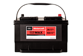 MOTORCRAFT® TESTED TOUGH® MAX BATTERIES STARTING AT $119.95 MSRP